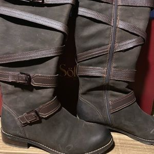 Sz 10 Sofft Leather riding boots. EUC